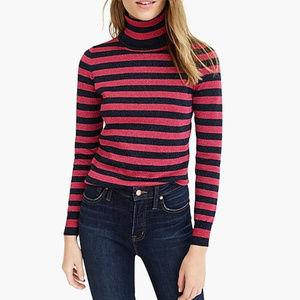 NWT J. Crew Turtleneck Sweater in Sparkly Stripe